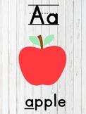 Farmhouse classroom- alphabet
