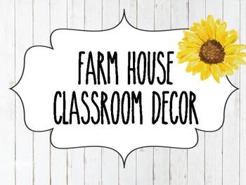Farmhouse classroom decor