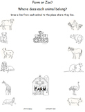 Farm or Zoo? A fun (and free!) matching activity.