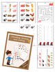 Farm set: worksheets counting, tracing and cutting (+ memory game)