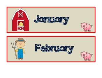 Farm them Calendar Set