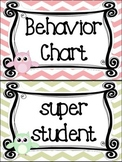 Owl themed Behavior Clip Chart-8 Cards