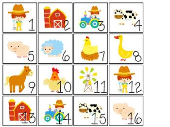 Farm themed Printable Calendar Pieces Classroom Bulletin B
