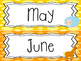 Farm themed Printable Month Classroom Bulletin Board Set. Class Access