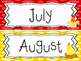 Farm themed Printable Month Classroom Bulletin Board Set.