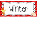 Farm themed Printable What Is the Season Bulletin Board Set.