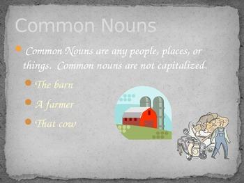 Farm themed Proper Nouns Powerpoint