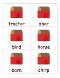 Farm themed R controlled vowel, bossy R sorting cards, er,