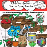 Garden Clip Art- How to Grow Tomatoes by Chalkstar Graphics