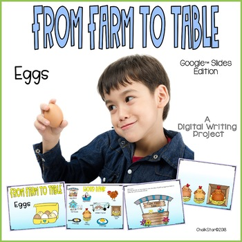 Farm to Table Eggs Writing for Google Slides™
