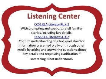 Farm to Table Kindergarten Literacy Centers