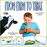 Farm to Table Milk Writing PowerPoint™