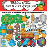 Farm to Table-Orange Juice Production Clip Art- Chalkstar Graphics