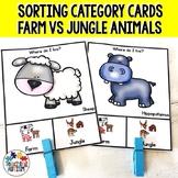 Farm v Jungle Animal Sorting Categories Task Cards