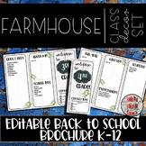 FarmHouse Brochure Theme Editable Meet The Teacher Templates Back To School