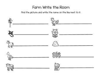 Farm Theme Write the Room