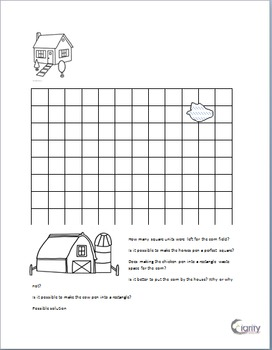 Farmer Ben's Farm: Complete Lesson plan for units squared  3.MD 5 and 3. MD 6