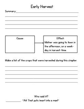 Farmer Boy Chapters 19-23 Notebook