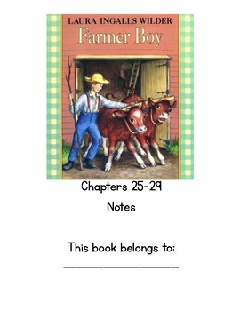 Farmer Boy Chapters 24-29 Notebook