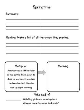 Farmer Boy Chapters 7-12 Notebook