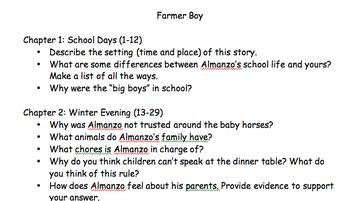 Farmer Boy Questions