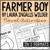 Farmer Boy by Laura Ingalls Wilder Novel Study Unit Activities, In 2 Formats