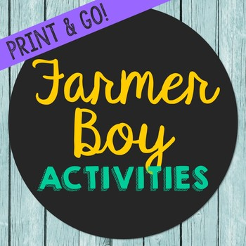 Farmer Boy Novel Unit Study Activities, Book Companion Worksheets, Project