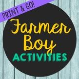 Farmer Boy Novel Unit Study Activities, Book Companion Wor