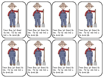 Farmer Brown's Blends-A game to practice reading l, r, or s blends