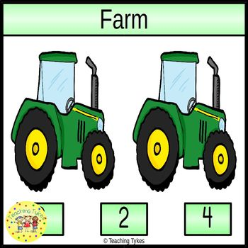 Farm Count and Clip Task Cards
