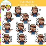 Farmer Counting Clip Art