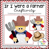 Community Helper Craft | Farmer Craft | Career Day | Writing Activity