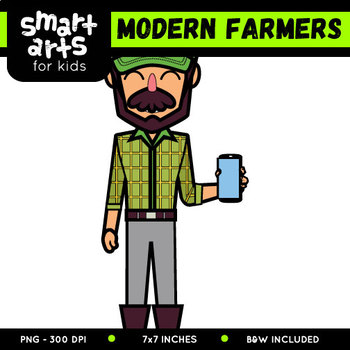 Modern Farmers Digital Clip Art