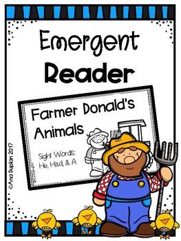 Farmer Donald's Animals Emergent Reader