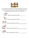 Farmer E- Cow Clues Reading Practice