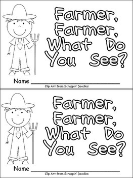 Farmer Farmer What Do You See Emergent Reader For