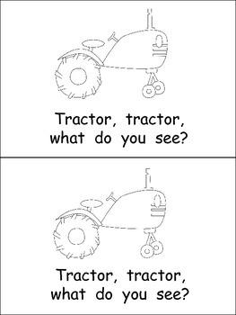 Farmer, Farmer, What Do You See Emergent Reader for Kindergarten- Farm Theme