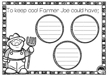 Farmer Joe's Hot Day ~ A week of reading activities