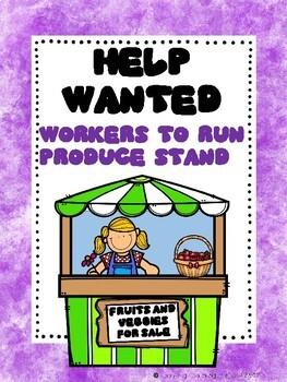 Farmer John's Produce Stand Dramatic Play / Writing Center Bundle
