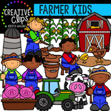 Farmer Kids {Creative Clips Digital Clipart}