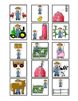 Farmer Spatial Concept Cariboo with Flashcards