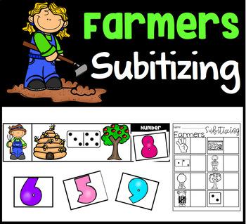Farmer Subitizing Math Center