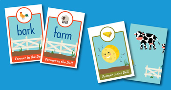 Farmer in the Dell short a, CVCe a, ar Phonics Game