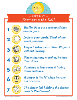 Farmer in the Dell short a, CVCe a, ar Phonics Game - Words Their Way Game