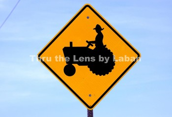 Farmer on a Tractor Sign Stock Photo #122