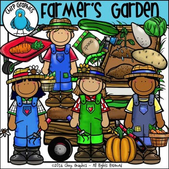 Farmer's Garden Clip Art Set - Chirp Graphics