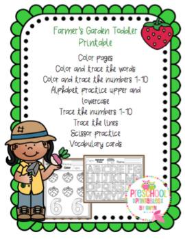 Farmer's Garden Toddler Printable