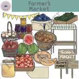 Farmer's Market Clip Art Set