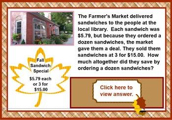 Farmer's Market Math - A Lesson in Problem Solving