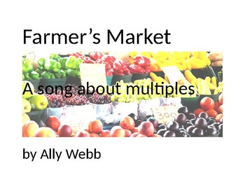 Farmer's Market Printable Graphics Cover Page